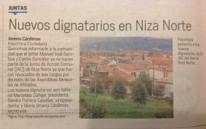 Noticia Nuevos dignatarios en Niza Norte